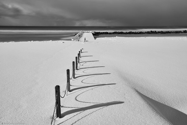 Snow Beach Fence