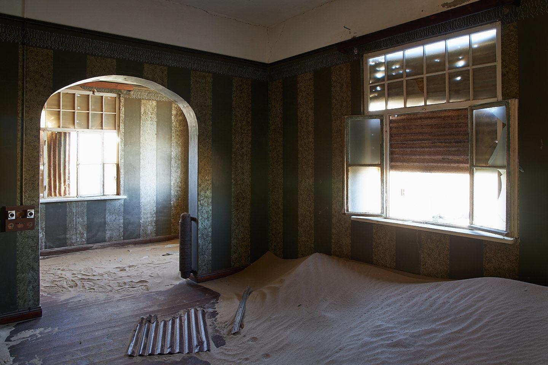 Wallpapered Walls in Kolmanskop