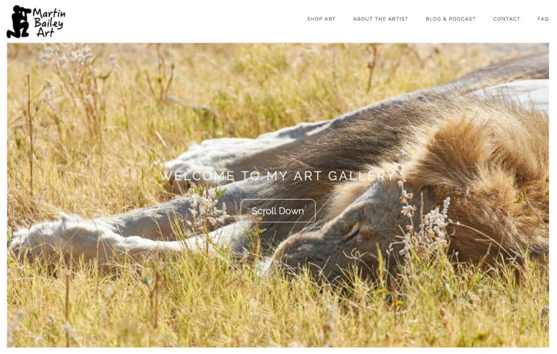 Martin Bailey Art Screenshot