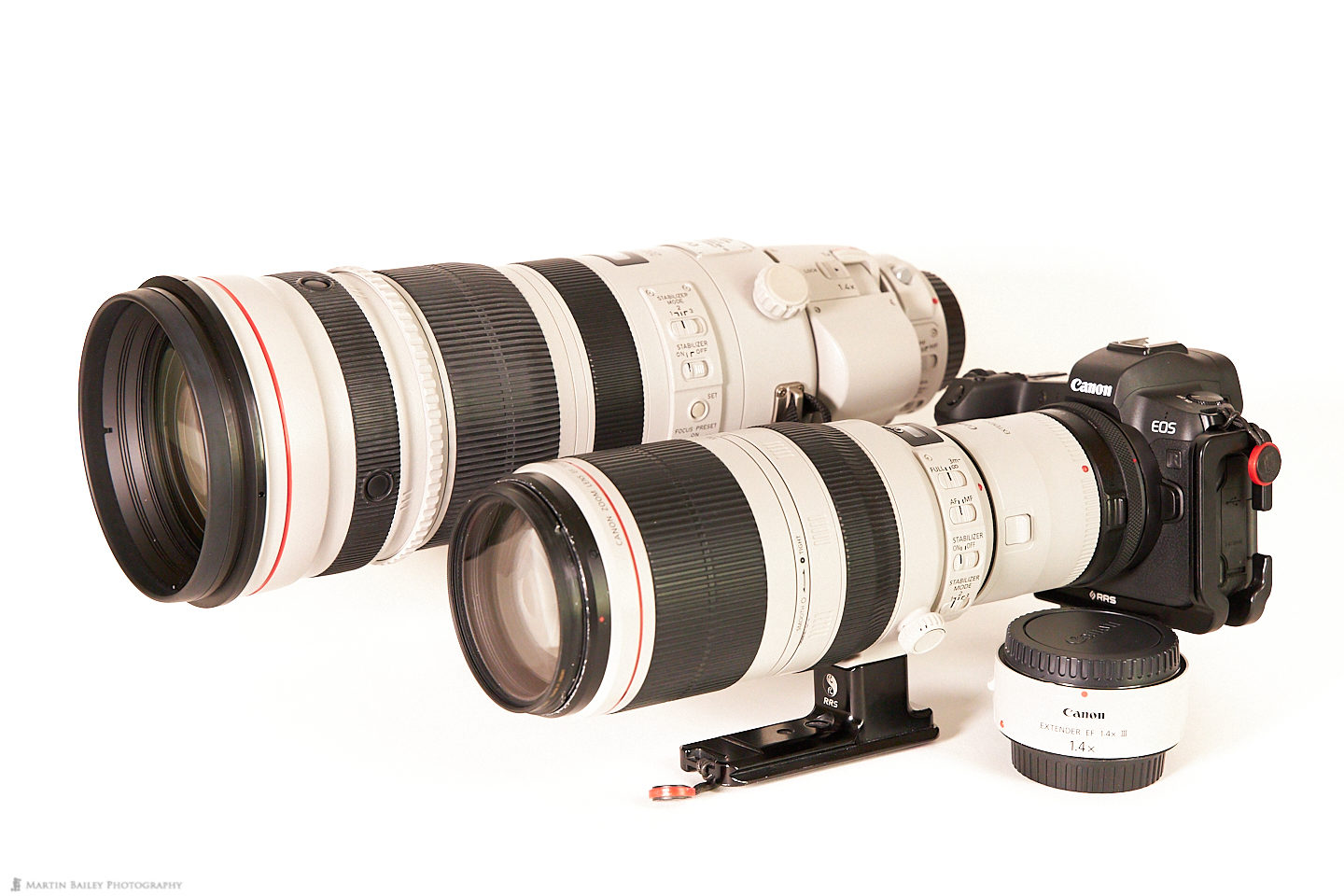 EOS R with Lenses and Extenders