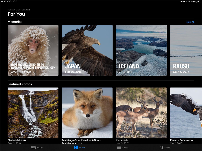 Memories in Photos on iPad