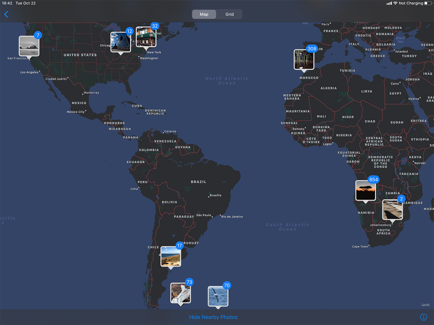 World Map with Geotagged Images