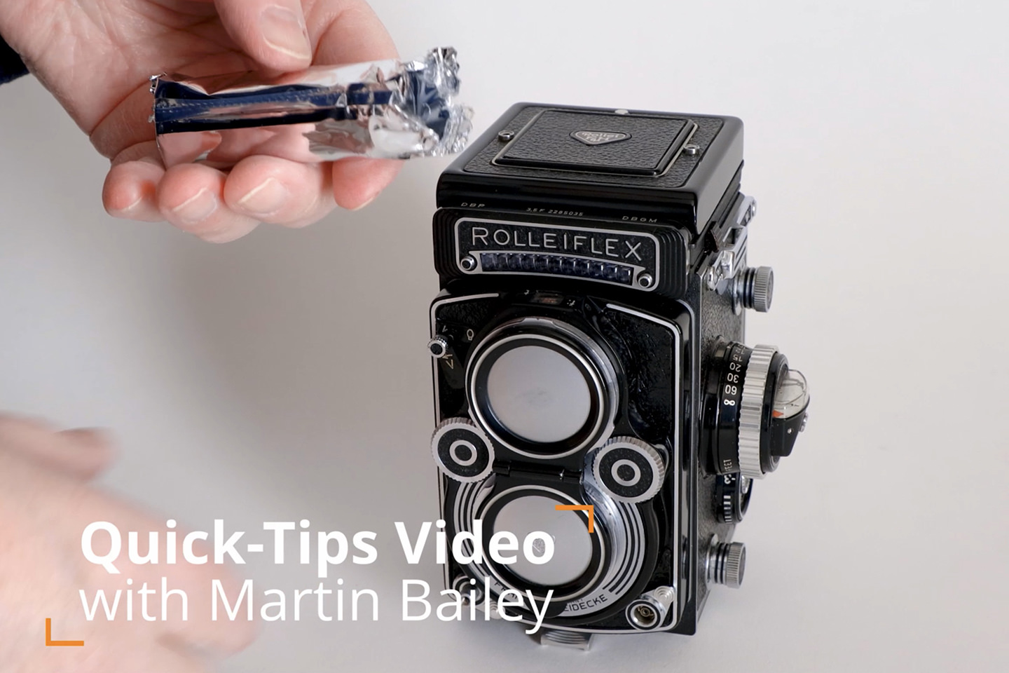 Loading Film to the Rolleiflex