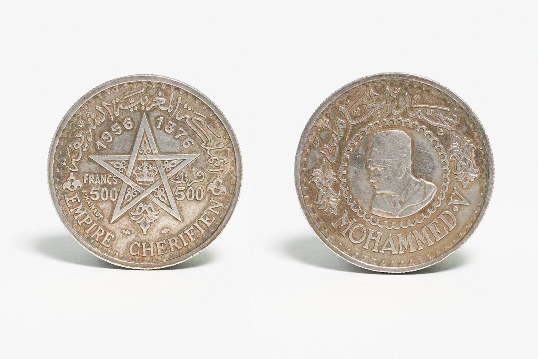 Moroccan 500 Francs Coin