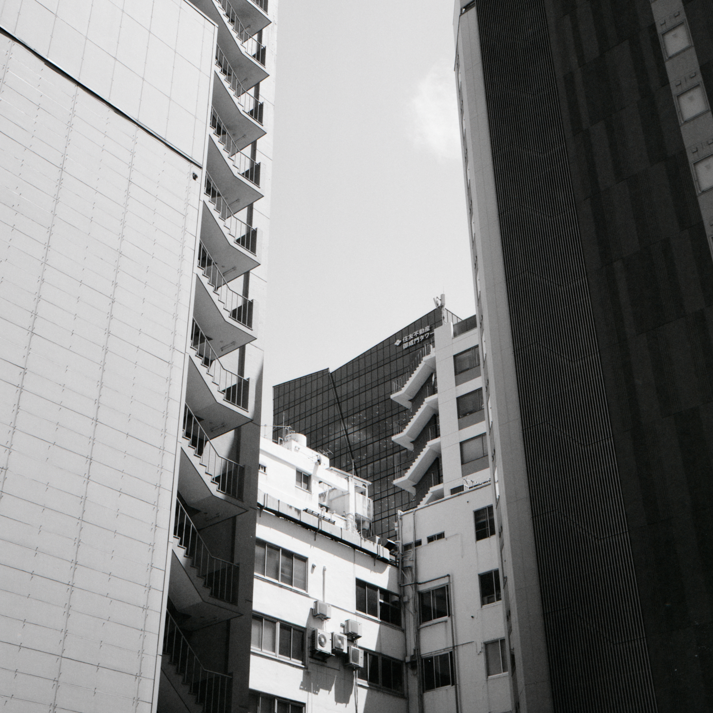 Layers of Buildings and Stairs