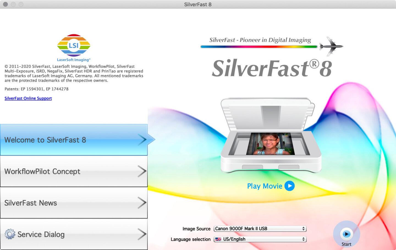 SilverFast Startup Screen