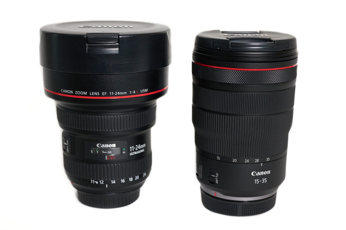 EF 11-24mm (left) and RF 15-35mm (right)