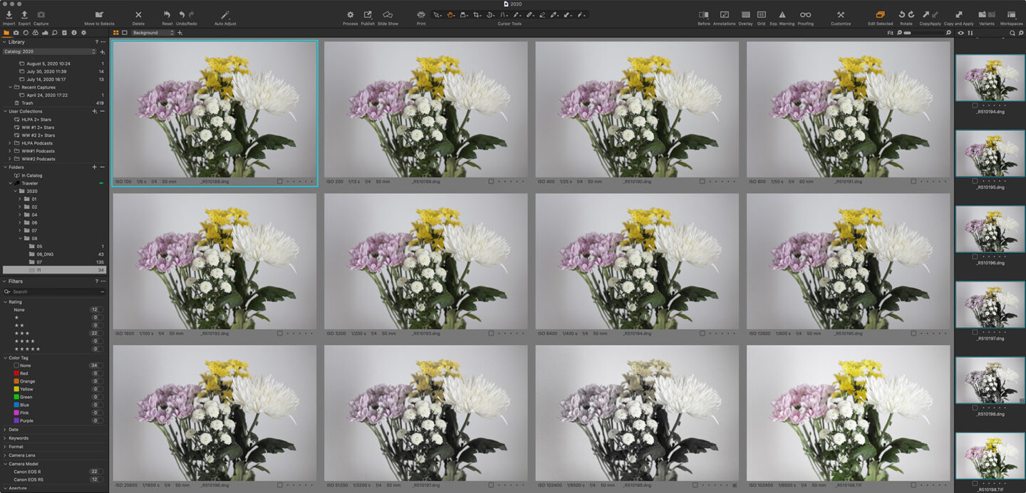 High ISO Color Degradation of Converted DNG files in Capture One Pro