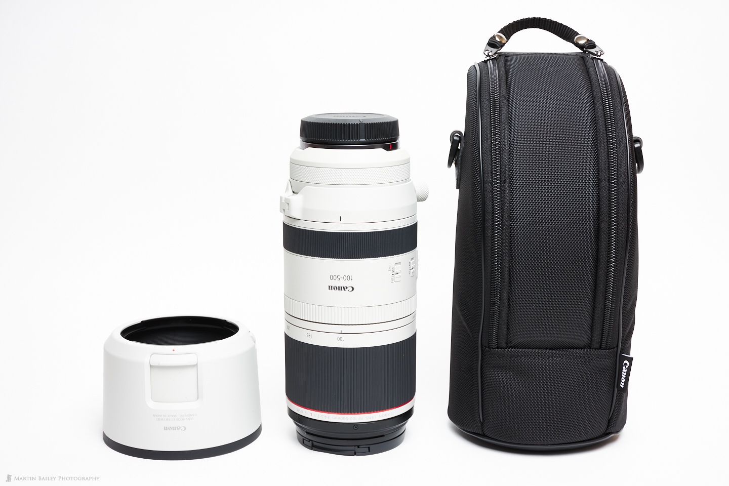 Canon RF 100-500mm Lens with Hood and Case