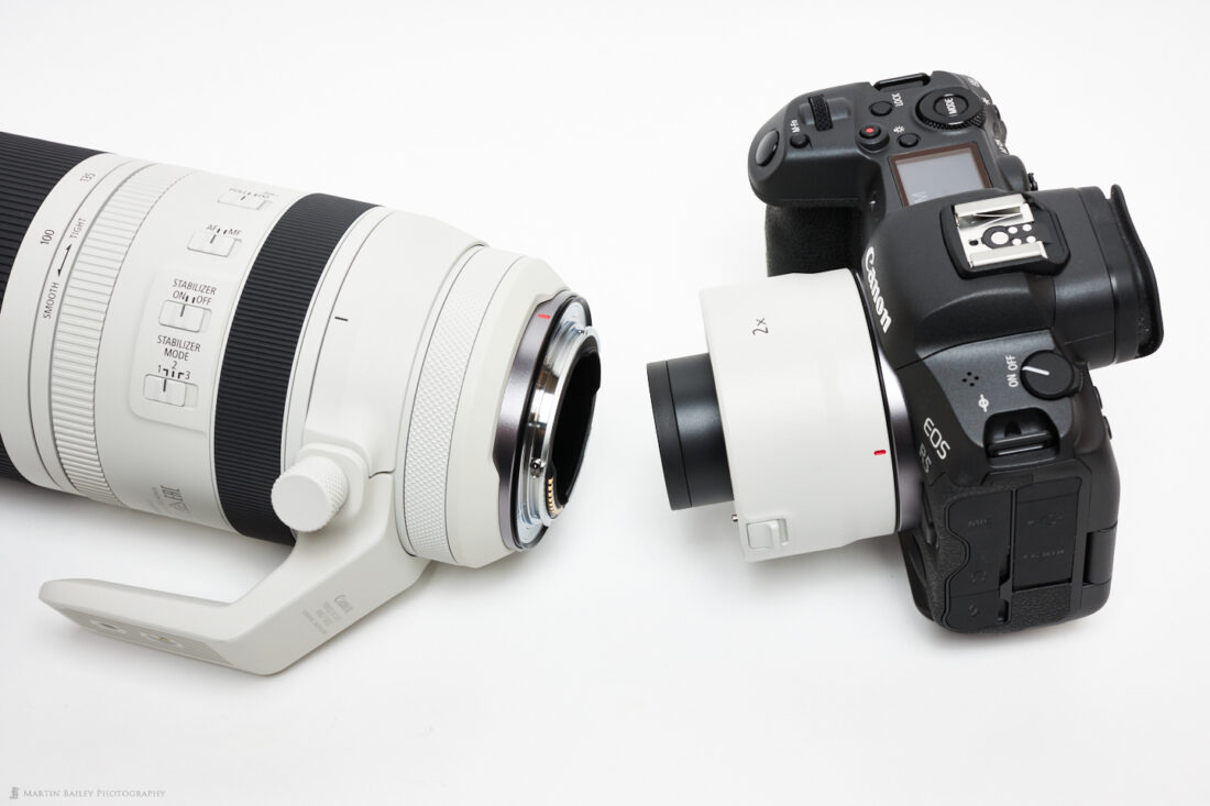 2X Extender and Back of RF 100-500mm Lens