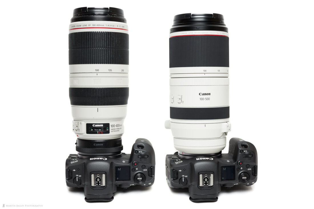 Canon RF 100-500mm Compared with EF 100-400mm Mark II Lens