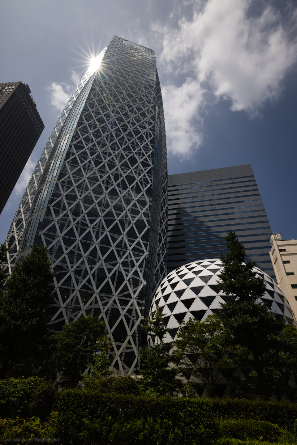 The Cocoon Building in Shinjuku