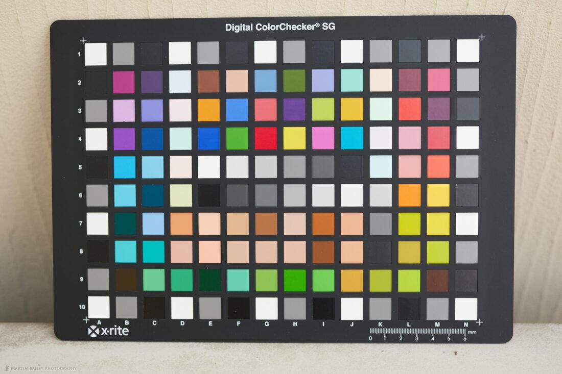 Digital ColorChecker SG with Generic EOS R5 Camera Profile