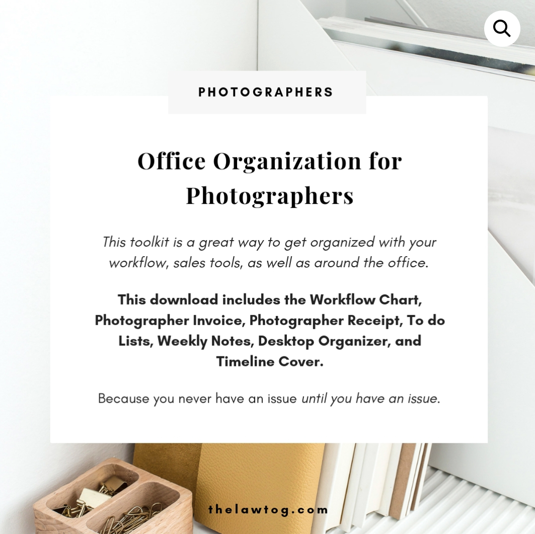 The Law Tog - Office Organization for Photographers - 1