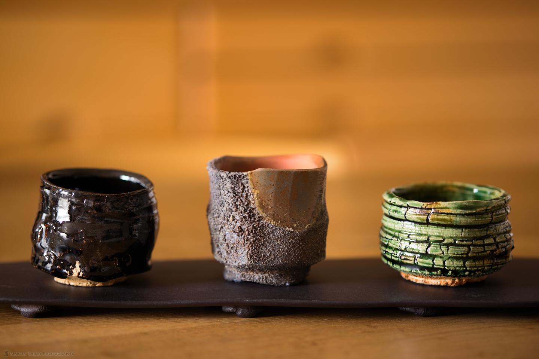 """Three """"Guinomi"""" Sake Cups"""