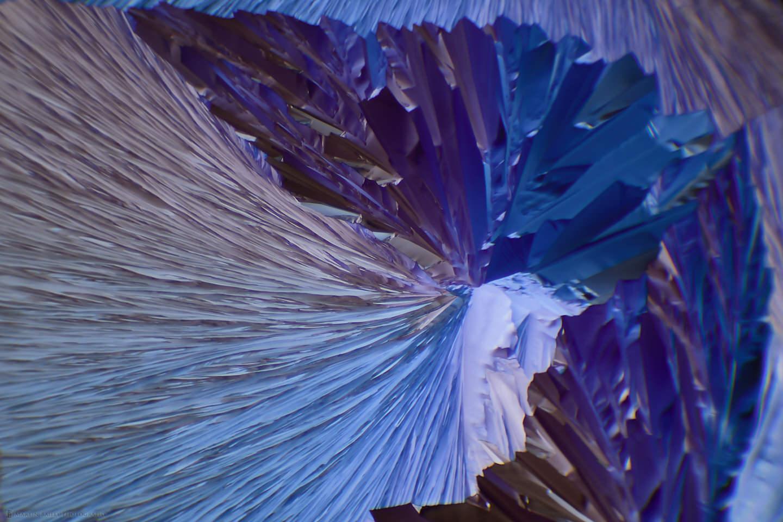 Alien Caldera Glacier (Polarized Citric Acid Crystals 40X)