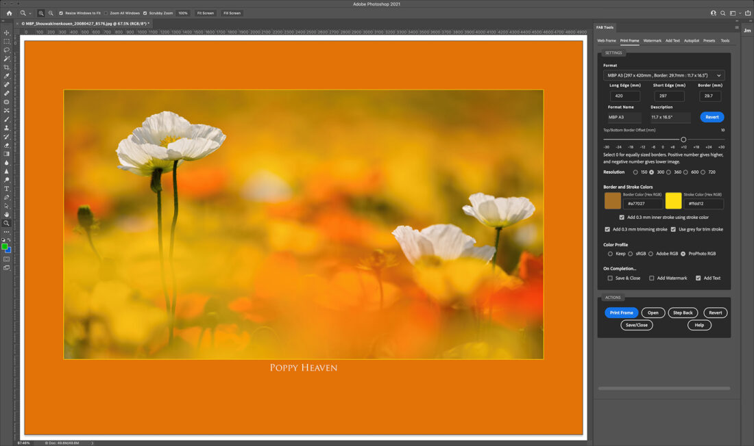 FAB Tools Version 1.3 - Color Your Frame!
